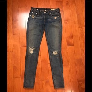 Rag & Bone distressed, denim, mid-rise